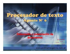 Procesador de texto Apunte N 6