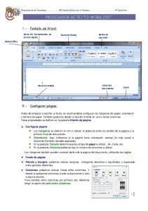 PROCESADOR DE TEXTO: WORD 2007