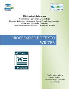 PROCESADOR DE TEXTO WRITER