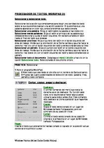 PROCESADOR DE TEXTOS: WORDPAD (II)