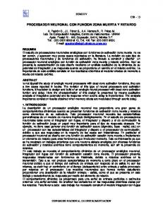 PROCESADOR NEURONAL CON FUNCION ZONA MUERTA Y RETARDO