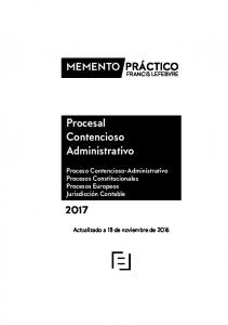 Procesal Contencioso Administrativo