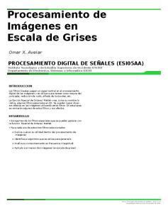 Procesamiento de Imágenes en Escala de Grises