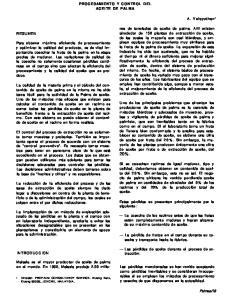 PROCESAMIENTO Y CONTROL DEL ACEITE DE PALMA