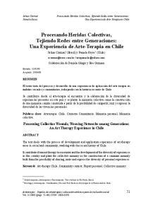 Procesando Heridas Colectivas, Tejiendo Redes entre Generaciones: Una Experiencia de Arte-Terapia en Chile
