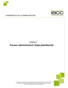 Proceso administrativo: Etapa planificación