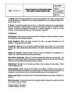 PROCESO CONTROL INTERNO DISCIPLINARIO PROCEDIMIENTO DISCIPLINARIO VERBAL