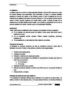 PROCESO DE MANUFACTURA DEL CEMENTO