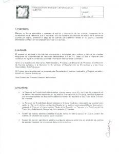 PROCESO PARA ANALlSIS y DEPURACION DE CUENTAS