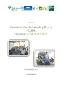 PROCESO PROPONENTES DEL PROYECTO. 16 noviembre 2,012