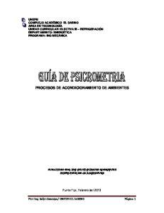 PROCESOS DE ACONDICIONAMIENTO DE AMBIENTES