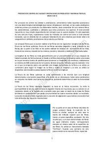 PROCESOS DE CONTROL DE CALIDAD Y PRESTACIONES DE PRODUCTOS Y MATERIAS TEXTILES. (Parte 1 de 3)