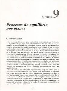 Procesos de equilibrio por etapas
