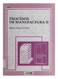 PROCESOS DE MANUFACTURA 11