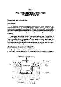 PROCESOS DE MECANIZADO NO CONVENCIONALES