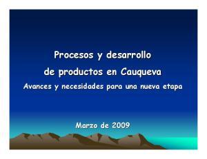 Procesos y desarrollo de productos en Cauqueva