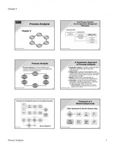 Process Analysis. Chapter 5. Process Analysis 1. Chapter 5 Operations As a Competitive Weapon Operations Strategy Project Management