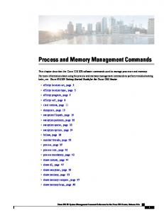 Process and Memory Management Commands