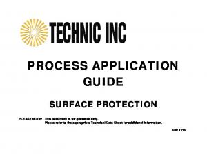 PROCESS APPLICATION GUIDE