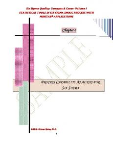 PROCESS CAPABILITY ANALYSIS FOR SIX SIGMA