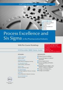 Process Excellence and Six Sigma in the Pharmaceutical Industry