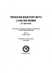PROCESS MASTERY WITH LEAN SIX SIGMA