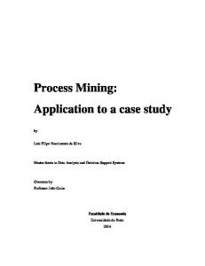 Process Mining: Application to a case study