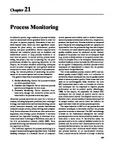 Process Monitoring. Chapter 21