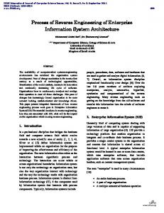 Process of Reverse Engineering of Enterprise Information System Architecture