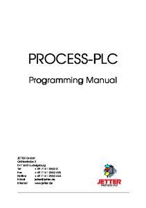 PROCESS-PLC. Programming Manual