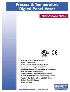 Process & Temperature Digital Panel Meter