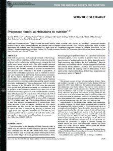Processed foods: contributions to nutrition 1,2