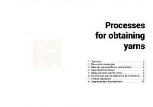 Processes for obtaining yarns