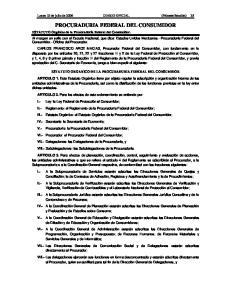 PROCURADURIA FEDERAL DEL CONSUMIDOR
