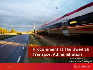 Procurement at The Swedish Transport Administration