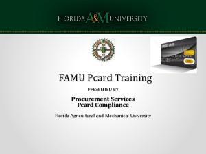 Procurement Services Pcard Compliance
