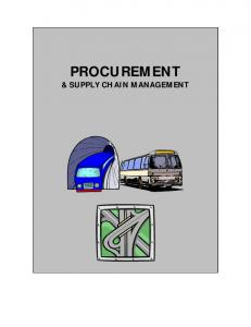PROCUREMENT & SUPPLY CHAIN MANAGEMENT