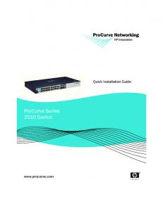ProCurve Series 2510 Switch