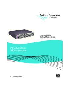 ProCurve Series 3400cl Switches