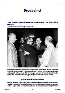 Prodavinci. Tres novelas venezolanas del novecientos; por Alejandro Oliveros