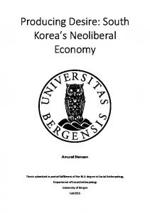 Producing Desire: South Korea s Neoliberal Economy