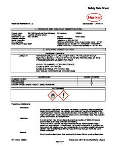 PRODUCT AND COMPANY IDENTIFICATION 2. HAZARDS IDENTIFICATION