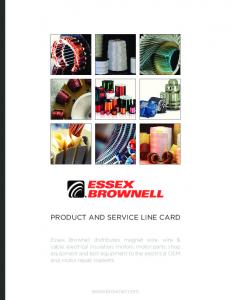 PRODUCT AND SERVICE LINE CARD
