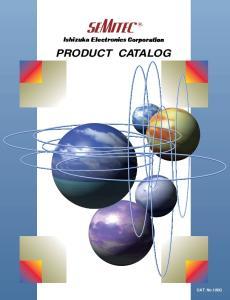 PRODUCT CATALOG. CAT. No.129G