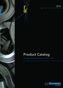Product Catalog. Strength Through Innovation Since 1764