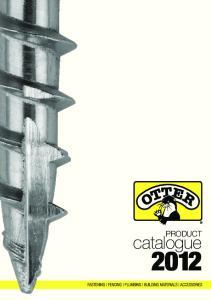 PRODUCT catalogue 2012