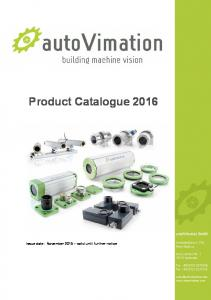 Product Catalogue 2016