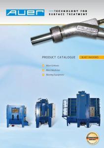 ProDuct catalogue. BLast MachInes. Blast Cabinets. Blast Machines. Blasting Equipment MADE IN GERMANY. Pr e. re t h n 6 0 y