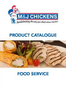 PRODUCT CATALOGUE FOOD SERVICE
