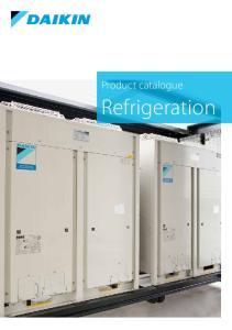Product catalogue. Refrigeration